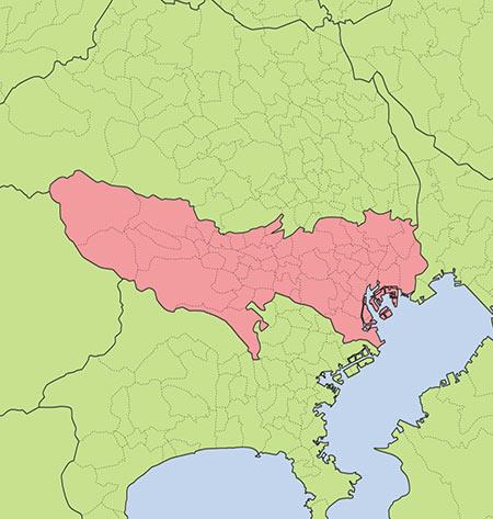 東京都全域地図